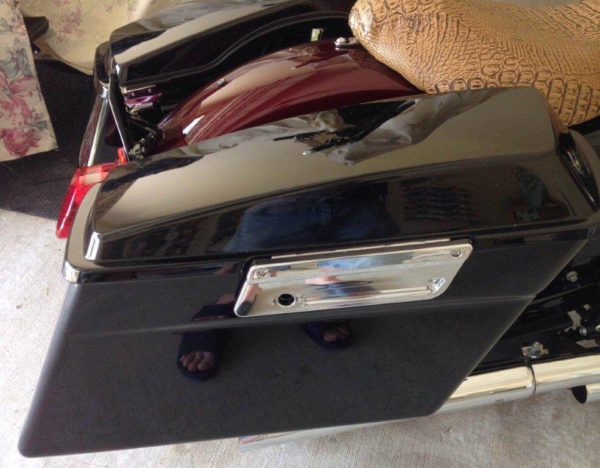 Sumax Sportster Saddle Bag Bracket installed
