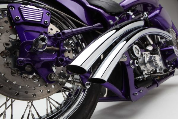 Powder coating motorcycles Syracuse NY Chopper FXRST