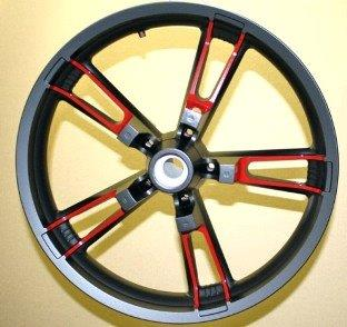 Powder Coating Motorcycle Rims