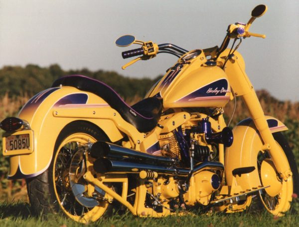 powder coating Harley Davidson Shovelhead Motors