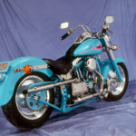 Baby Blue Fat Boy Looking Sportster