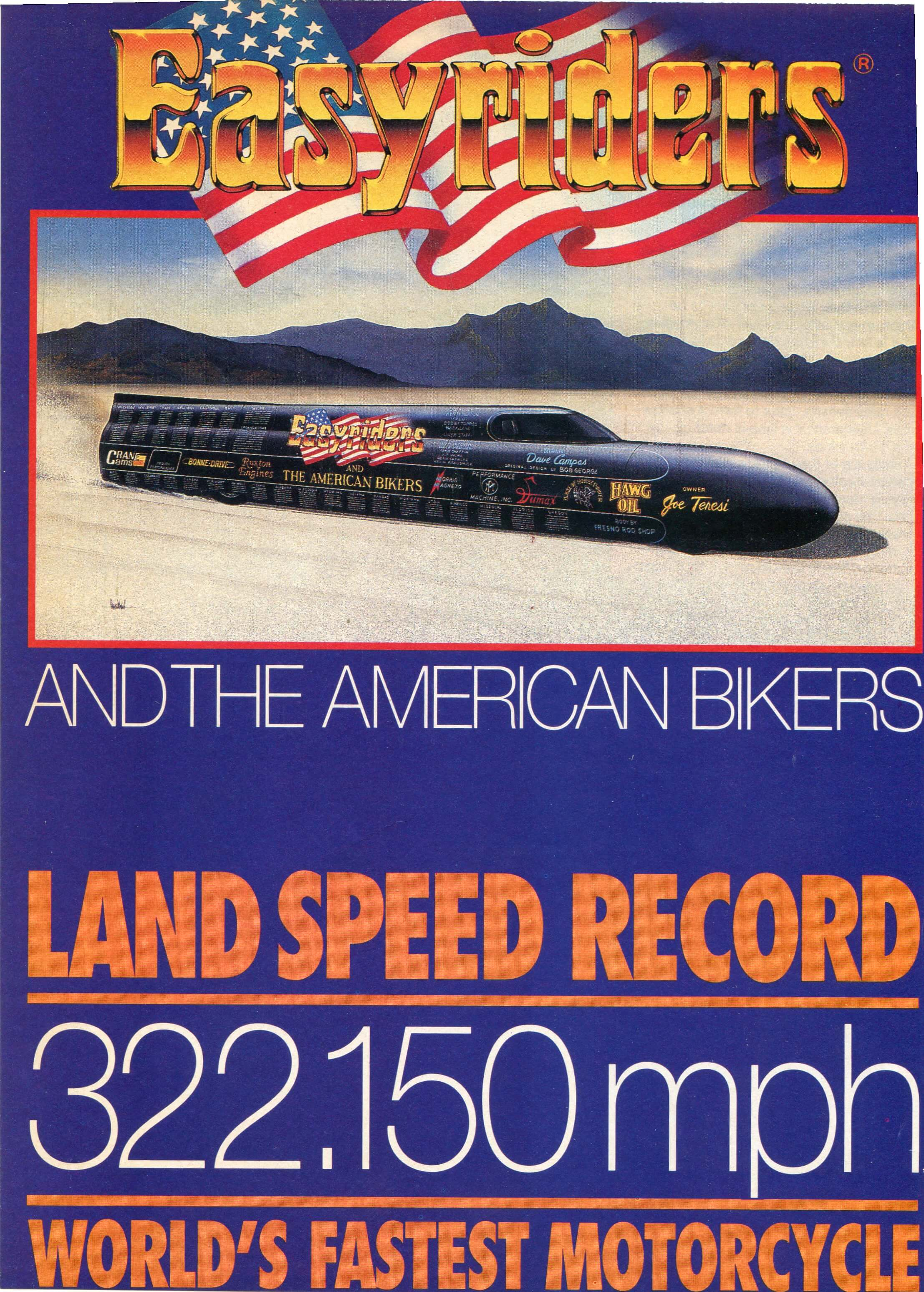 Motorcycle Spark Plug Wires set Land Speed Record