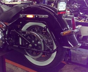Saddle bag brackets for Harley Davidson Softail
