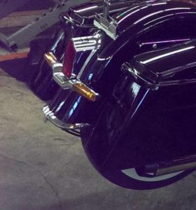 Saddle bag brackets for Harley Davidson Softail